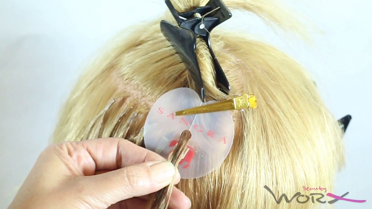 Flat Tip Hot Fusion Hair Extension Youtube