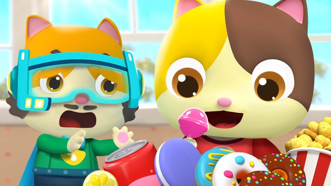 No More Snacks, Baby Kitten | Good Habits for Kids | Nursery Rhymes | Kids Songs | BabyBus Lesson 4