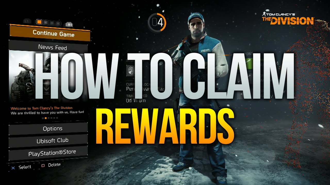 The Division - How to Claim Rewards (DLC skins, outfits etc)