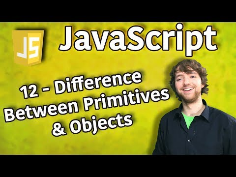 JavaScript Programming Tutorial 12 - Difference Between Primitives and Objects thumbnail