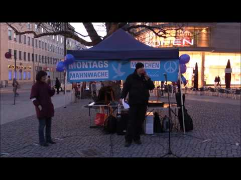 Mahnwache für Frieden in München vom 09.03.2015 (Teil 1/4)