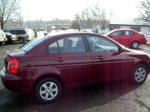 2010 Hyundai Accent GLS, 4 door sedan, 1.6 liter 4 Cyl, LOADED, Dark Red