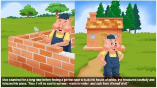 The story of Three Little Pigs In English Talking Before Sleep For Kids