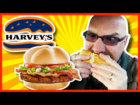 Bacon Bacon Angus Burger from Harvey's Review | KBDProductionsTV
