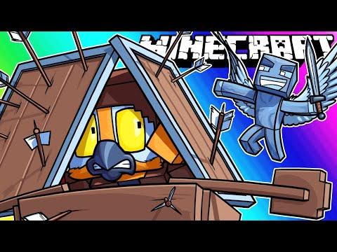 Minecraft Funny Moments - Pillager Revenge Raid!
