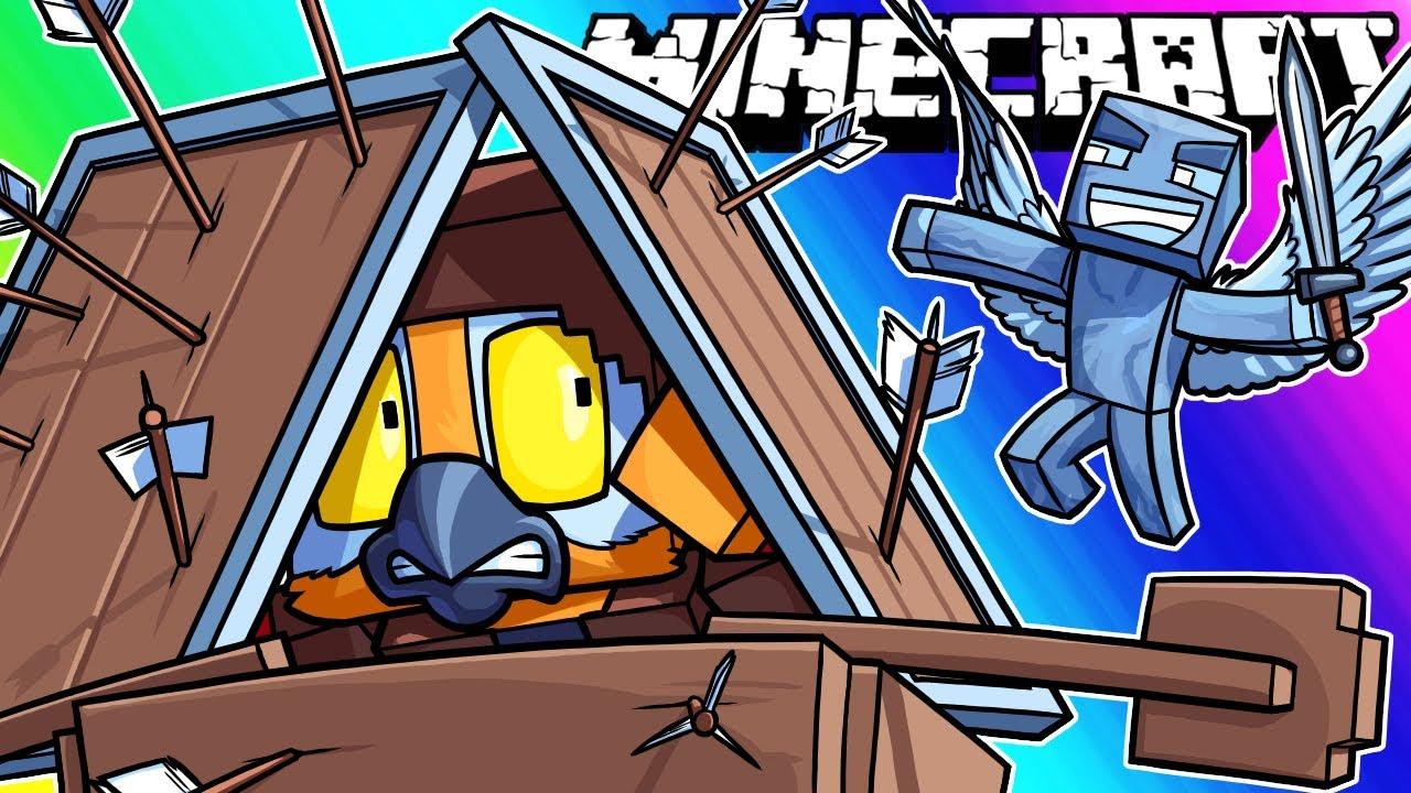 Minecraft Funny Moments - Pillager Revenge Raid! thumbnail