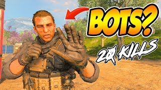 CoD BLACKOUT | THE LAST PLAYER MAY HAVE BEEN AN ACTUAL BOT!!!!! (20 KiLL SOLO-DUO WiN)