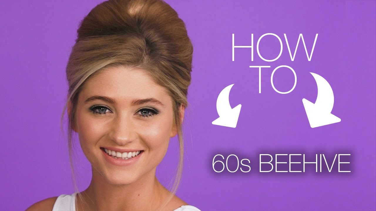 how to   60s beehive hair look   superdrug