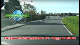 Original Prüfungsfahrt #2 - Tipps & Hilfen - Fahrstunde - Führerscheinprüfung