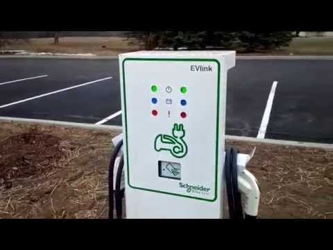 Electric Car Charging Station Hampton Inn Rome New York