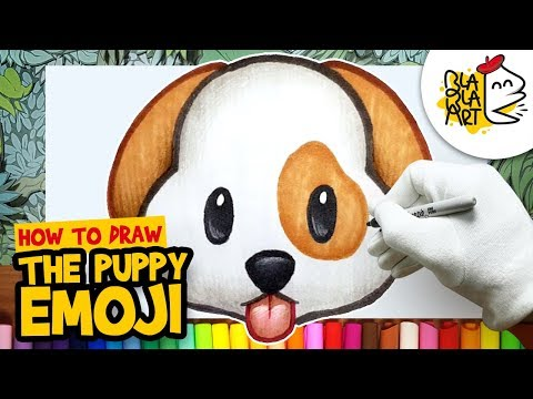 HOW TO DRAW THE PUPPY EMOJI | Best Emoji Drawing For Kids