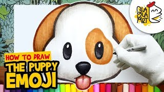 HOW TO DRAW THE PUPPY EMOJI | Best Emoji Drawing For Kids | BLABLA ART