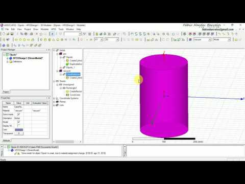 Modelling, designing and Simulating a Dipole Antenna in HFSS