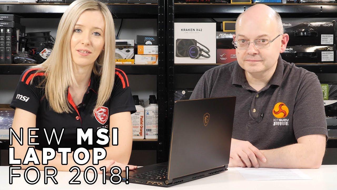 MSI GS65 6 CORE Laptop 2018 144hz Engineering Sample FIRST LOOK!