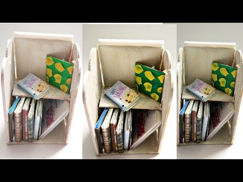 DIY Miniature book Shelf