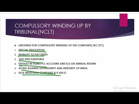 WINDING UP 1 COMPANIES LAW 2013