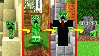CREEPER VS MINECRAFT LIFE CYCLE | If CREEPERS LIFESPAN was REAL! BABY ➡️ OLD