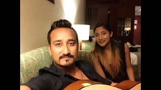 Udesh Shrestha and Top Ten Finalist of Nepal Idol- Kenjal Mehar Shrestha - Live Practice In UAE