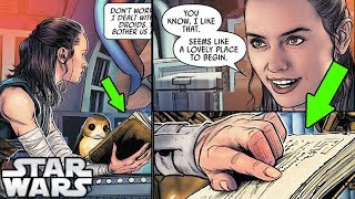 Luke's Sacred Jedi Texts REVEALED to Rey AFTER The Last Jedi! (CANON) - Star Wars Explained