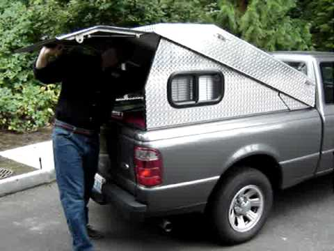 Tonneau cover to pickup canopy in 19 seconds. & Tonneau cover to pickup canopy in 19 seconds...! - YouTube