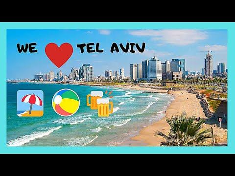 ISRAEL, the BEAUTIFUL BEACHES of TEL AVIV