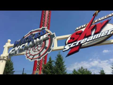 Six Flags New England Walk-thru 2017 (4k)