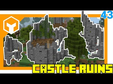 How to Build CASTLE RUINS  ⛏ Hybridcraft 043 ⛏ A Minecraft 1.12 Lets Play