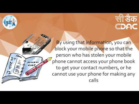 Note The International Mobile Equipment Identity (IMEI) Number Of Your Cell Phone