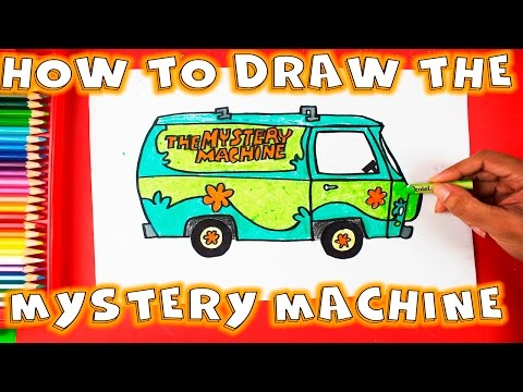 how to draw the mystery machine from scooby doo