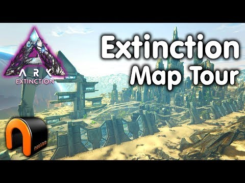 ARK EXTINCTION Full Map Tour
