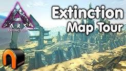 ARK EXTINCTION Full Map Tour