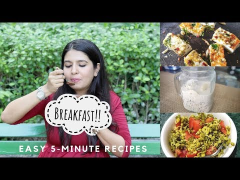 हिन्दी | 5 Minute Healthy Breakfast Ideas For Busy Mornings And Working Moms (Indian) | Quick & Easy