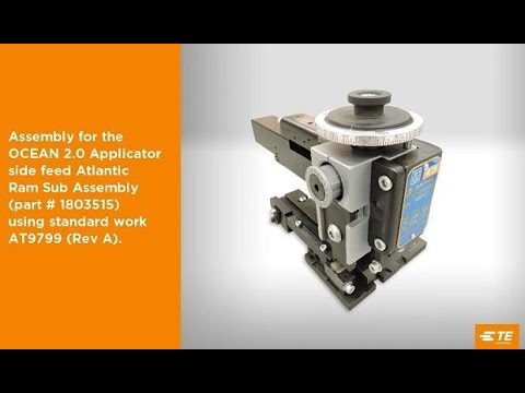 How to Assemble and Adjust TE OCEAN 2.0 Applicator Part 2
