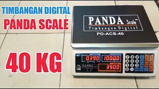 Cara Penggunaan Timbangan Digital Scales PANDA SCALE 40kg Timbangan Laundry Timbangan Sembako.