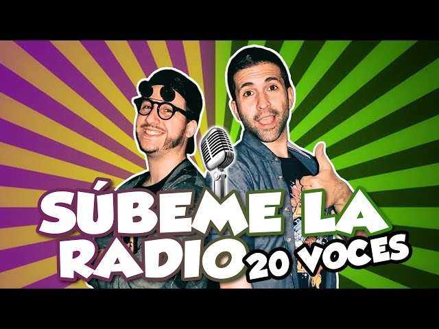 Enrique Iglesias - SUBEME LA RADIO (Parodia) 20 voces famosas