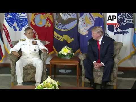 Trump meeting Pacific Command commander