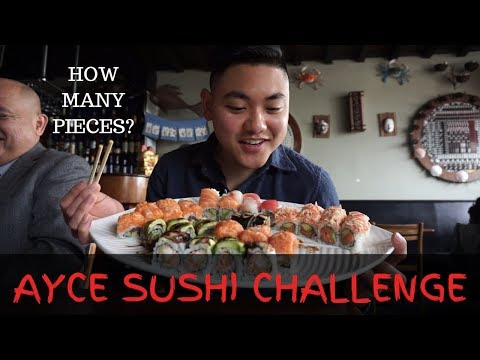 ALL YOU CAN EAT SUSHI CHALLENGE & DESSERT   INSANE CHEAT MEAL