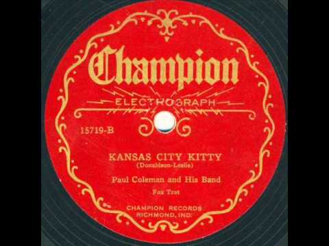 Ezra Buzzington Orch. Kansas City Kitty  unlisted side.