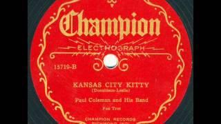 Ezra Buzzington Orch. Kansas City Kitty - unlisted side.