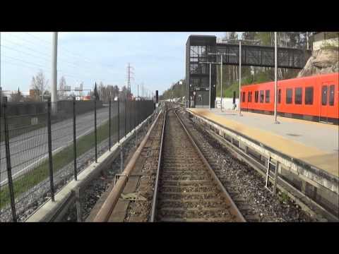 Helsinki metro. Ruoholahti-Mellunmäki. Takaohjaamovideo. Rear cab.