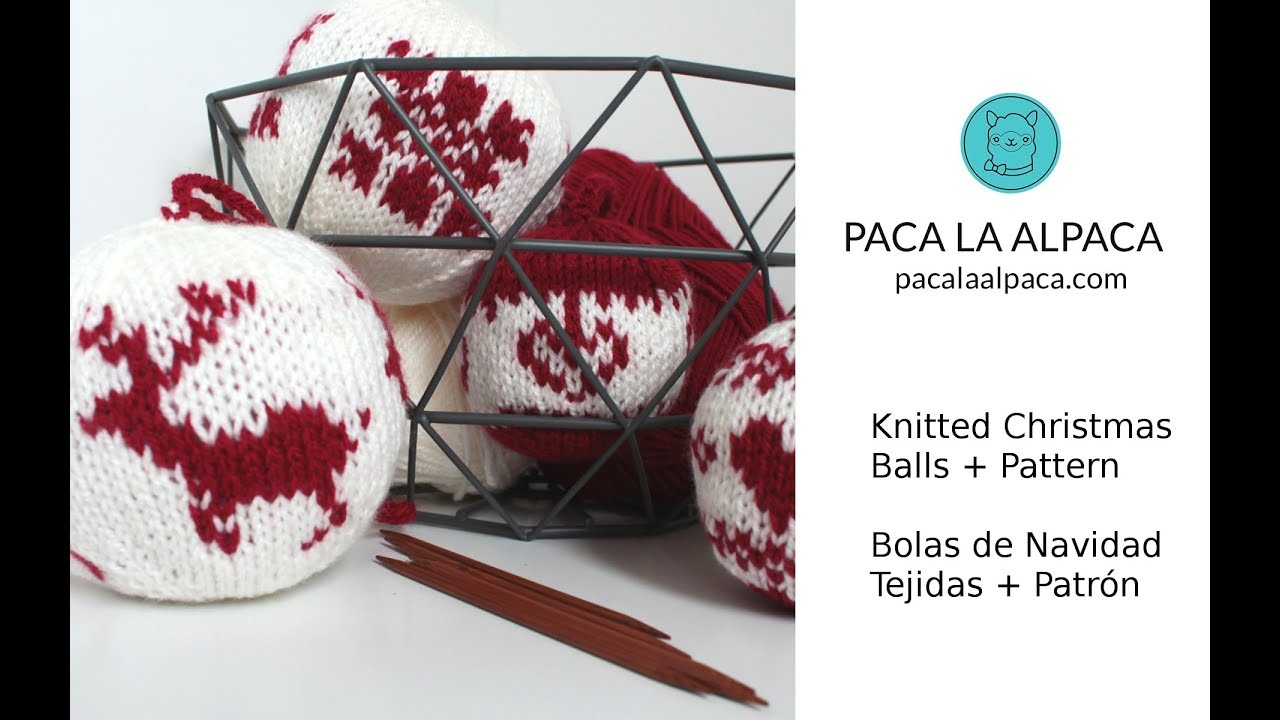 Knitted Christmas Balls + Pattern - YouTube