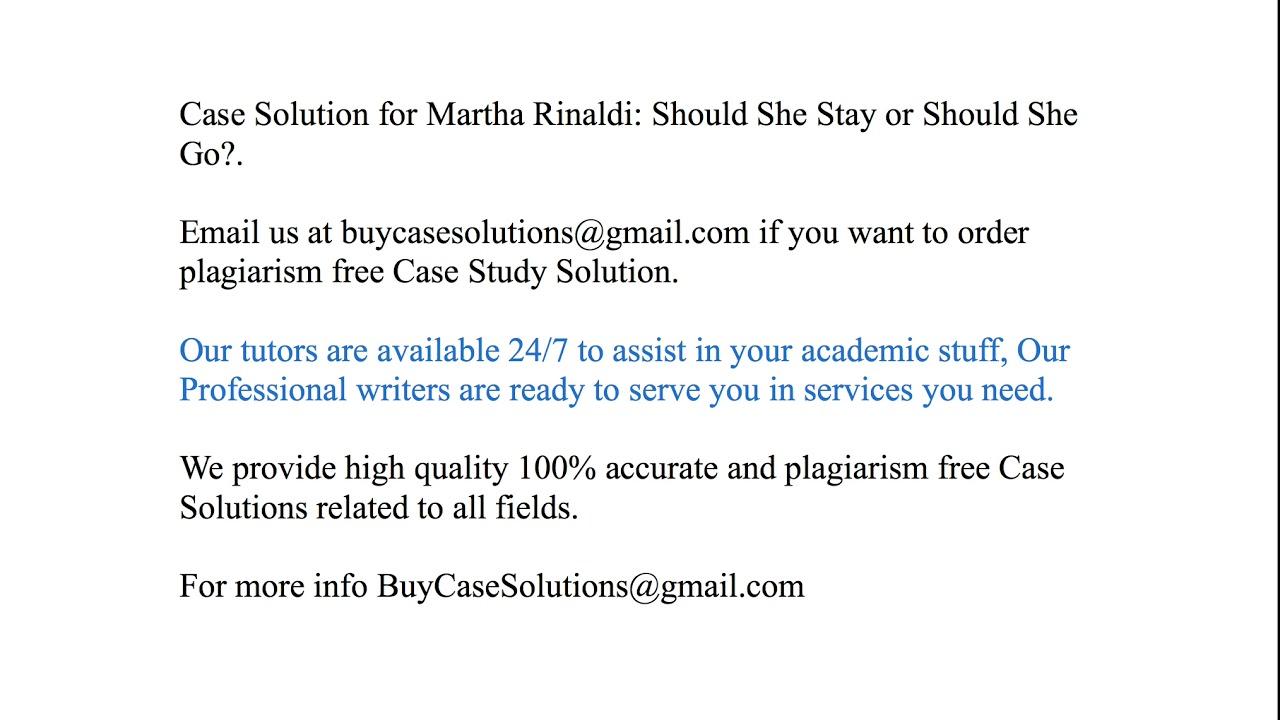 martha rinaldi should she stay or should she go