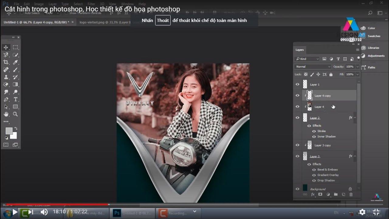 Cắt hình trong photoshop, Học thiết kế đồ họa photoshop