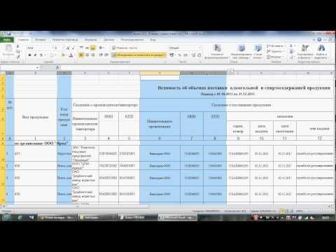 Импорт данных из Excel в Декларант-АЛКО (метод №2)