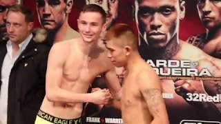 ALL SMILES! BOY JONES v LESTHER CANTILLANO *FULL & OFFICIAL* WEIGH-IN / BRENTWOOD