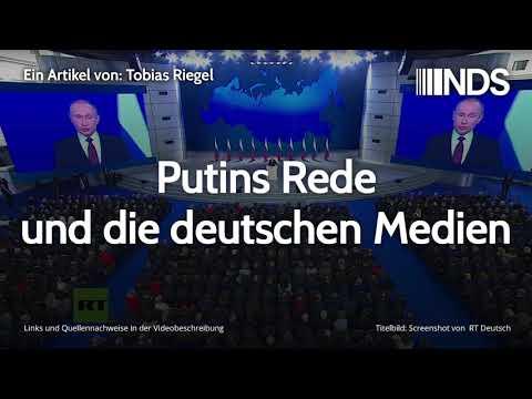 Putins Rede und die deutschen Medien | Tobias Riegel | NachDenkSeiten-Podcast