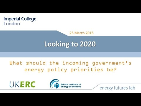 Looking to 2020: what should the incoming government's energy policy priorities be?