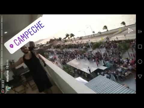 Maluma en el Carnaval de Campeche 2018-A poco de su concierto