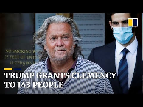 Trump pardons Steve Bannon and grants clemency to 142 others in final moments of presidency