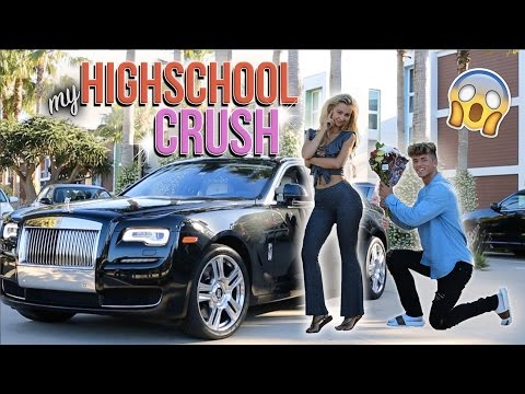PICKING UP MY HIGH SCHOOL CRUSH IN A ROLLS ROYCE! (AMAZING REACTION)